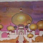 Aladdin Mural at Mariners Mural 12ftx30ft