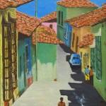 Callejon de La Guaira 12x16 Oil on canvas.